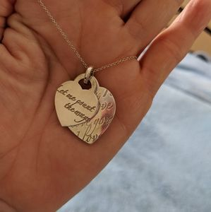 Tiffany authentic 2 tag necklace